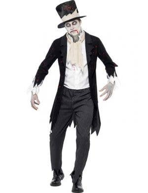 Men's Zombie Groom Halloween Fancy Dress Costume Front