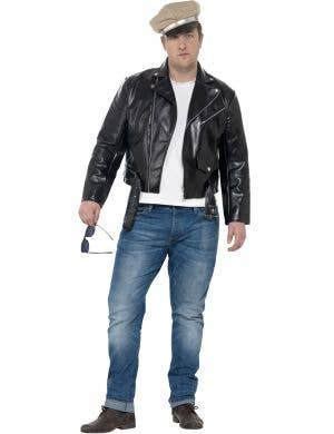 Mens 1950's Rebel Plus Size Fancy Dress Costume Front
