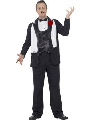 Men's Plus Size 1920's Gangster Costume Front View