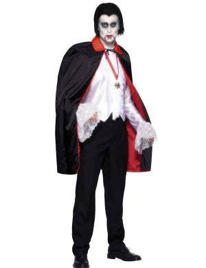 Adults Reversible Vampire Halloween Costume Cape Main Image