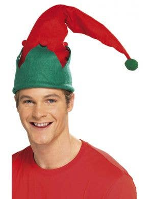 Green and Red Elf Felt Christmas Hat