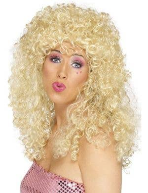 Boogie Babe 80's Curly Blonde Wig