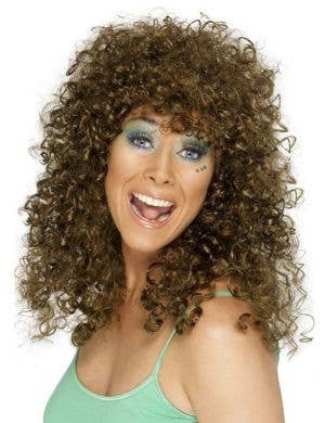 Boogie Babe Brown Curly Wig