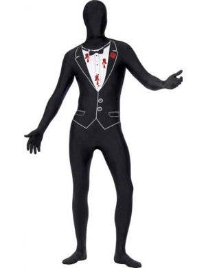 Men's Novelty Shot Gangster Skin Suit Costume Front