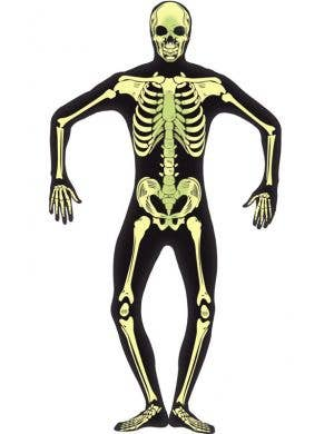 Men's Glow In The Dark Skeleton Second Skin Halloween Costume Front
