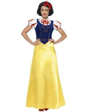 Women's Fairytale Snow White Fancy Dress Costume Front View