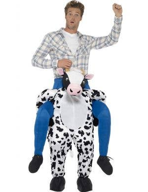 Adult's Cow Piggy Pack Novelty Fancy Dress Costume Front