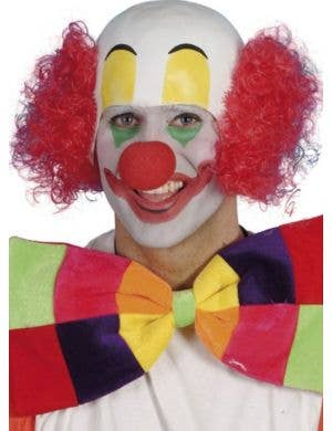 Clown Head Piece with Hair Men's Costume Accessory