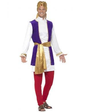 Arabian Prince Mens Aladdin Fancy Dress Costume Image 1