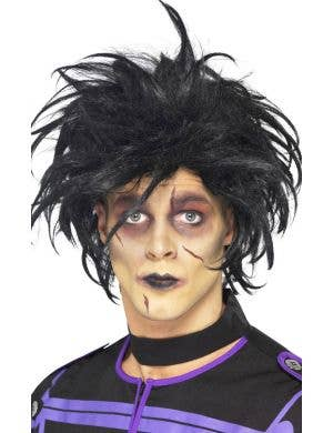 Men's Black Spiky Edward Scissorshands Halloween Costume Wig