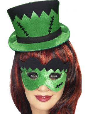 Women's Frankenstein Mini Hat and Mask Set