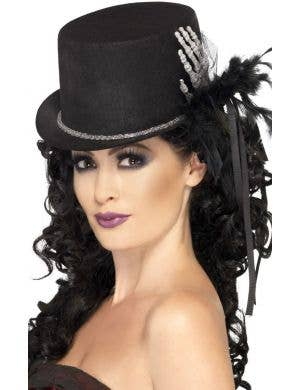 Gothic Skeleton Black Top Hat