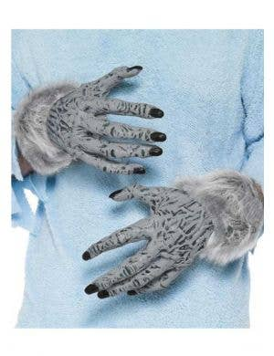 Hairy Grey Werewolf Costume Hands