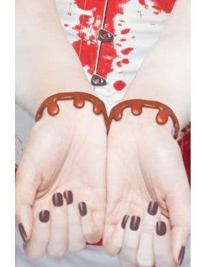 Dripping Blood Slashed Wrist Bracelets Halloween Accessory