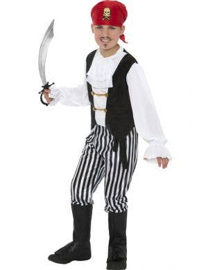 Boy's Pirate Captain Book Week Fancy Dress Costume Front