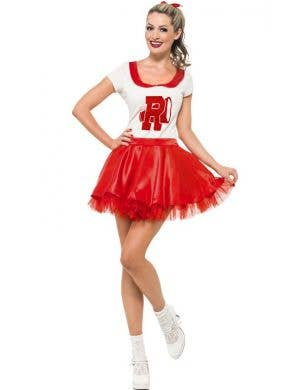 Women's Short Retro High School Cheerleader Costume Front