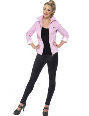 Women's Pink Ladies Grease Costume Jacket Front View