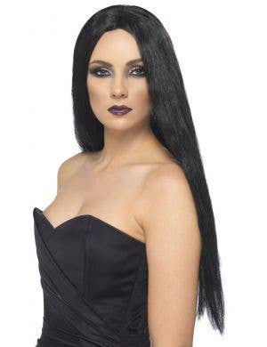 Straight Long Black Women's Costume Wig Main Image