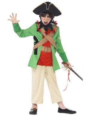 Boy's Blackbeard Pirate Costume Front View