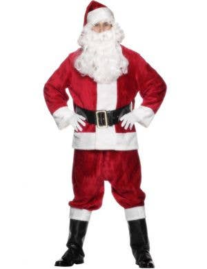 Plush Santa Claus Deluxe Father Christmas Suit