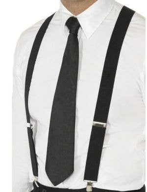 1920's Adjustable Black Braces Gangster Costume Accessory
