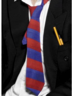 Striped Blue and Red School Boy Costume Tie