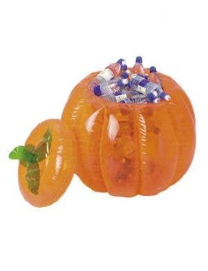 Inflatable Pumpkin Halloween Drink Cooler