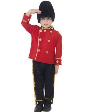 Boy's Royal British Busby Guard Costume Front