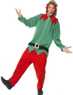 Christmas Elf Adults Onesie Fancy Dress Costume Front