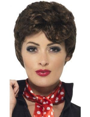 Grease Women's Rizzo Short Brown Costume Wig