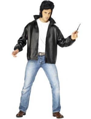 Men's T-Birds Grease Fancy Dress Costume Jacket Front