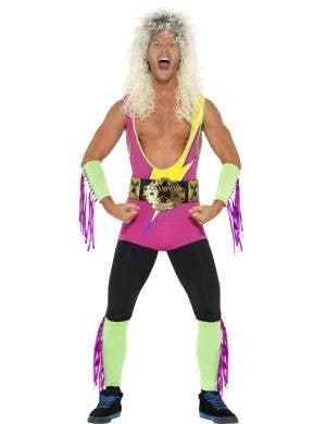 1980's Wrestler Men's Novelty Fancy Dress Costume Front