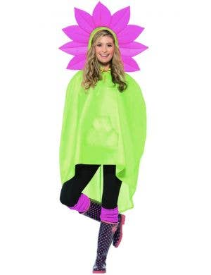 Flower Adults Unisex Party Poncho