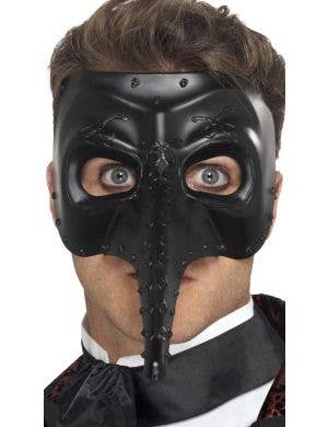 Plague Doctor Black Long Nose Masquerade Mask