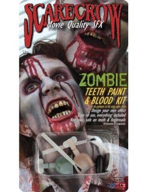 Zombie Teeth Paint and Blood Halloween Kit