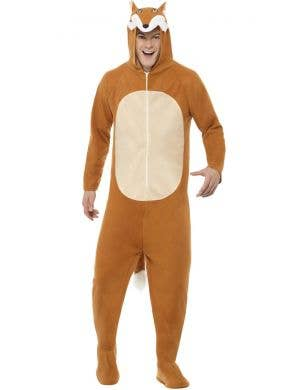 Fox Jumpsuit Adults Fancy Dress Costume
