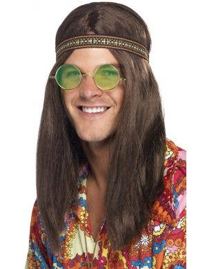 Groovy Hippie Costume Accessory Kit for Men