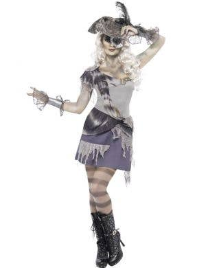Madame Voyage Women's Ghost Pirate Halloween Costume