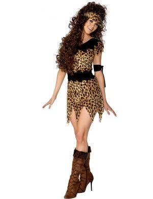 Women's Cave Woman Prehistoric Costume Main Image