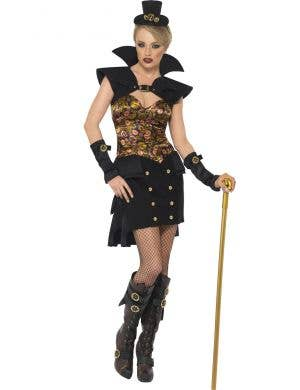 Victorian Steam Punk Vampire Women's Costume Main Image