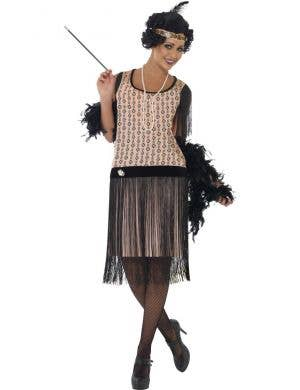 Roaring 20's Women's Fringed Flapper Costume Front View