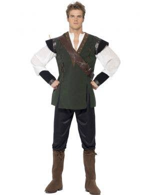 Men's Robin Hood Medieval Fancy Dress Costume Front