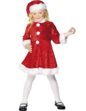 Girls Miss Santa Christmas Fancy Dress Costume