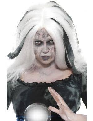 Soothsayer Haunted Court Women's White Halloween Wig