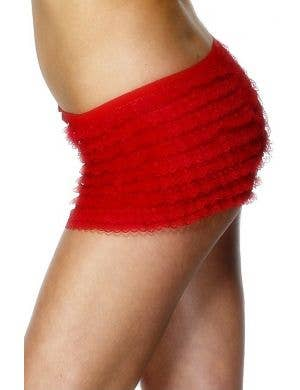 Ruffled Red Lace Booty Shorts Costume Accessory