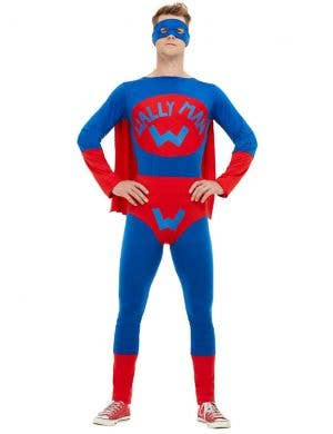 Wallyman Men's Red Superhero Costume