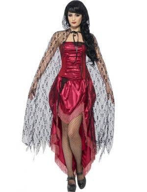 Gothic Lace Women's Halloween Costume Cape