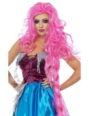 Mangled Maiden Women's Long Pink Wig