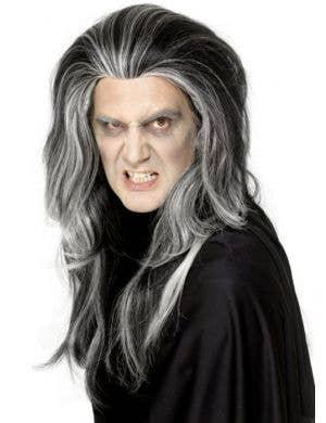 Gothic Vampire Black and White Wig