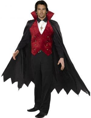 Men's Gothic Vampire Classic Halloween Costume Front